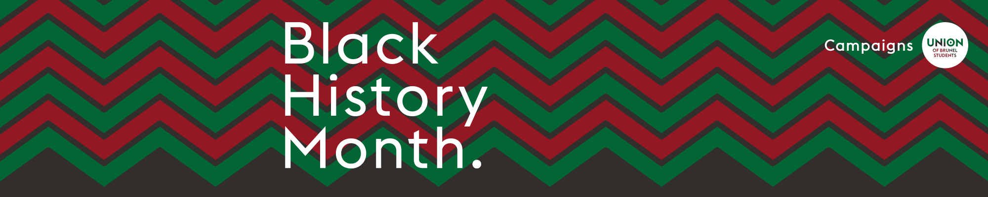 Black history month logo produced by Union of Brunel Students