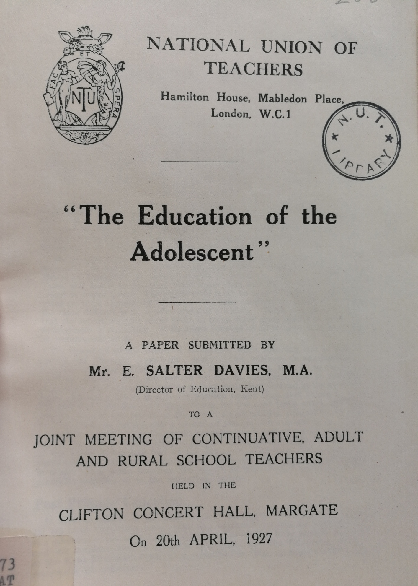 Image icon of publication on the education of the adolescent