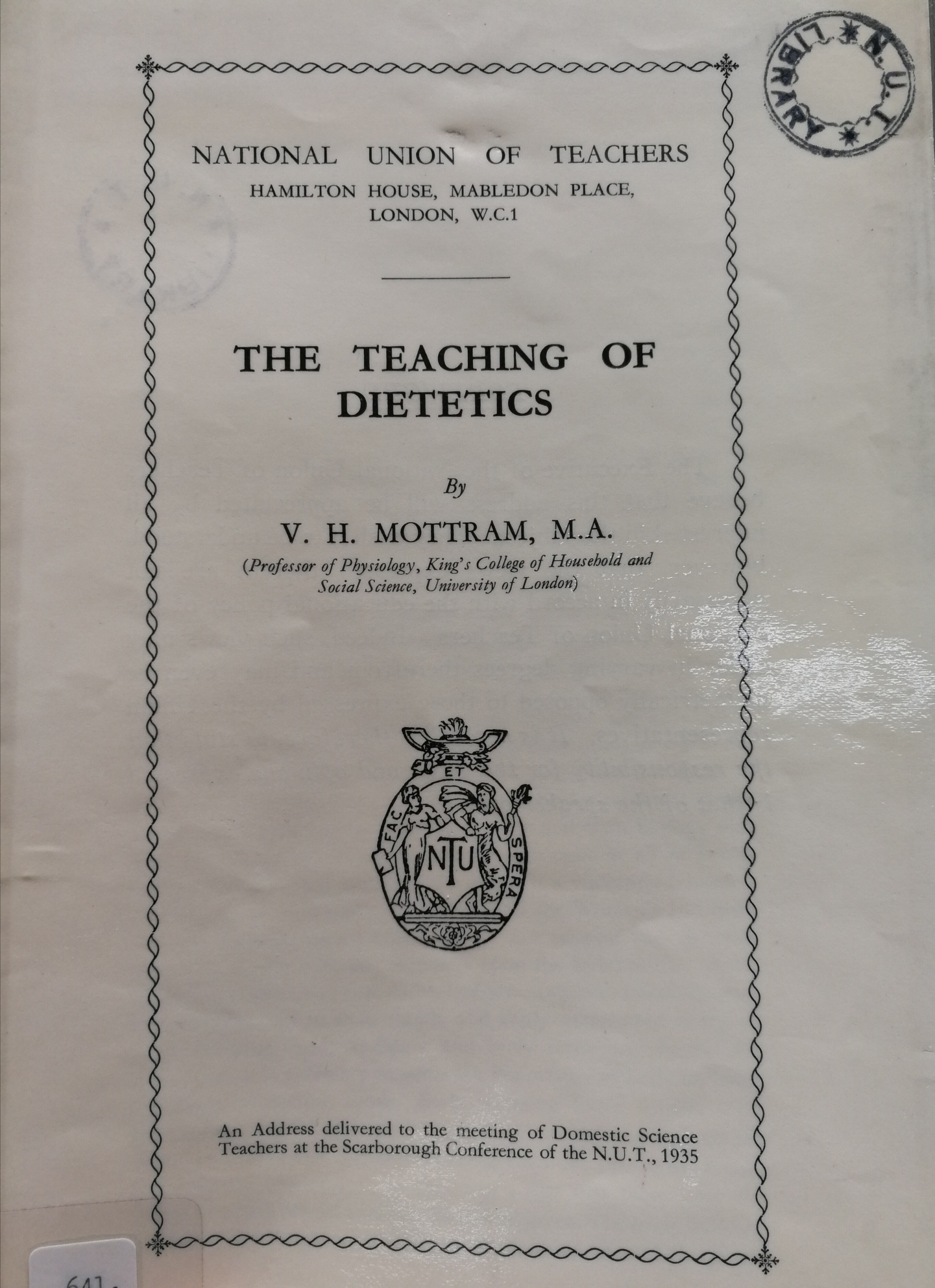 Image icon of publication on the teaching of dietetics
