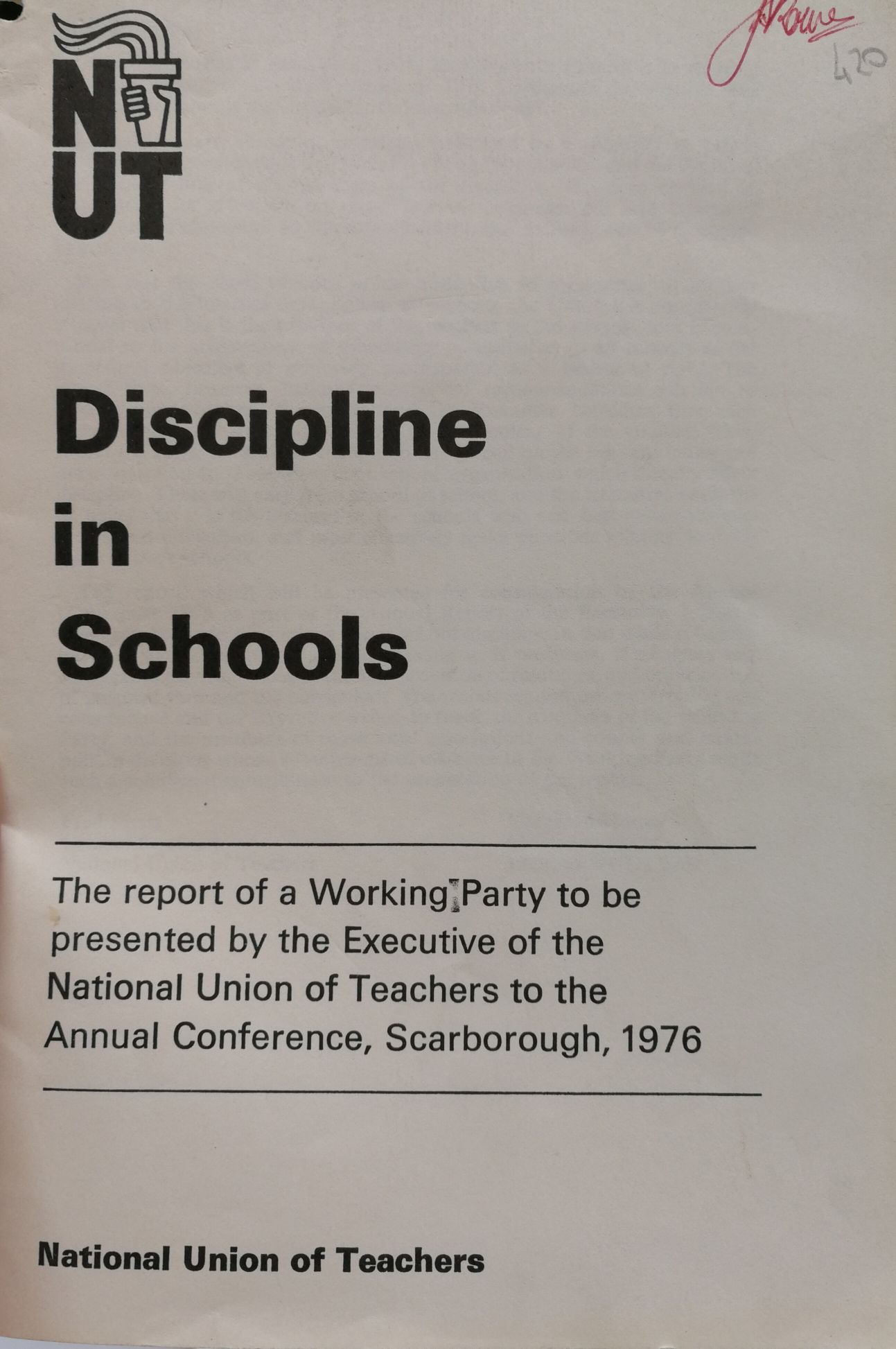 Image icon of a publication on discipline in schools