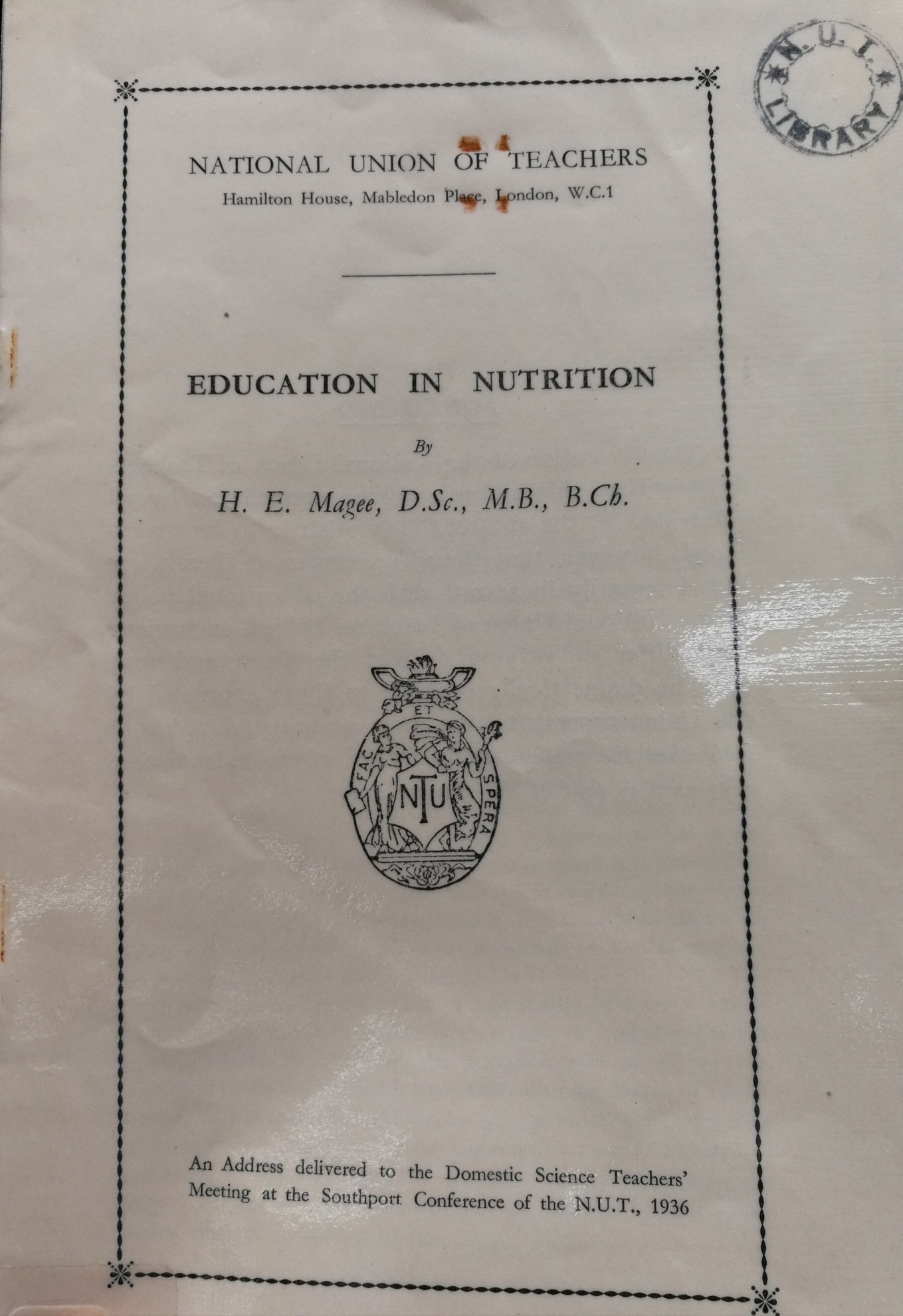 Image icon of publication on education and nutrition