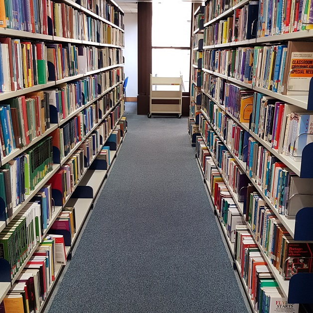 Photograph of Library Shelves on Level 5
