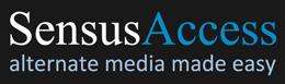 Sensus Access logo reading Sensus Access alternate media made easy