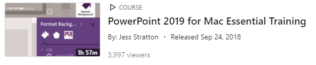 PowerPoint 2019 for Mac Essential Training - Linkedin Learning Course