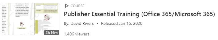 LinkedIn Learning Video - PowerPoint MS365