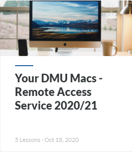 Guide: Access Your DMU Mac Labs Service