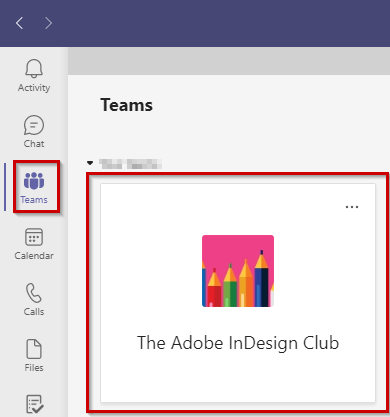 Click link to join the Adobe InDesign Club on MS Teams