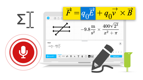 Infographs of EquatIO digital maths tool