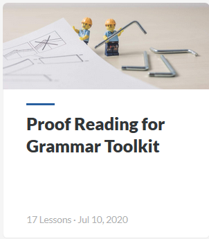 Proof Reading for Grammar Toolkit