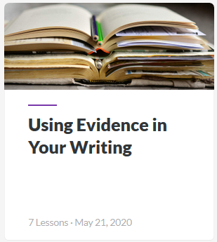 Using Evidence in Writing