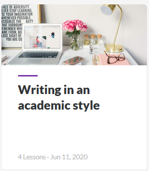 Writing in academic style guide