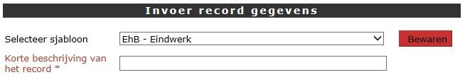 Record bewaren