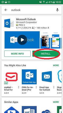 Google play outlook