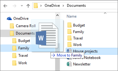 OneDrive file explorer window