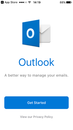 Outlook app get started