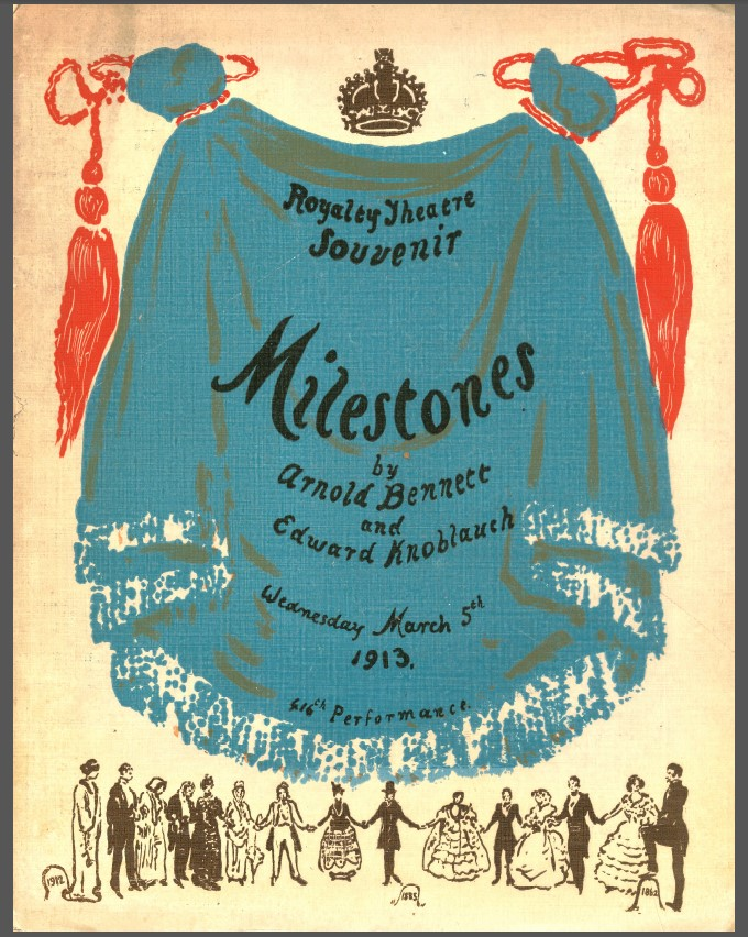 Front cover Royalty Theatre souvenir programme for Milestones
