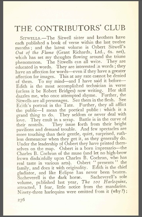 Article Sitwells The Adelphi vol. I, no. 3