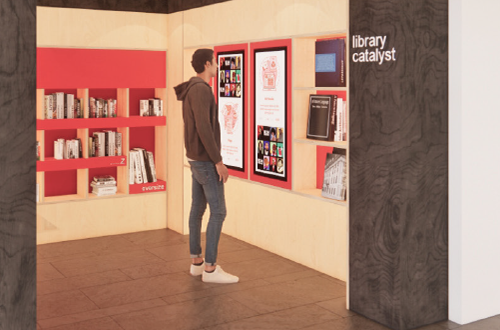mock up of new library catalyst space