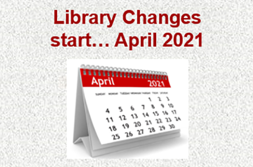 library changes start from April 2021