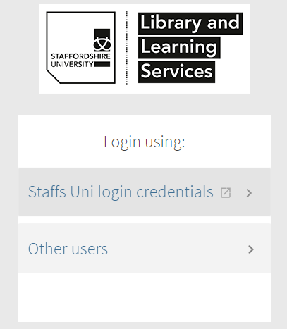Screenshot of sign in page