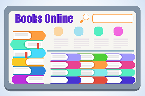 graphic of online books