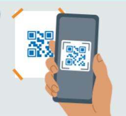 phone scanning a qr code