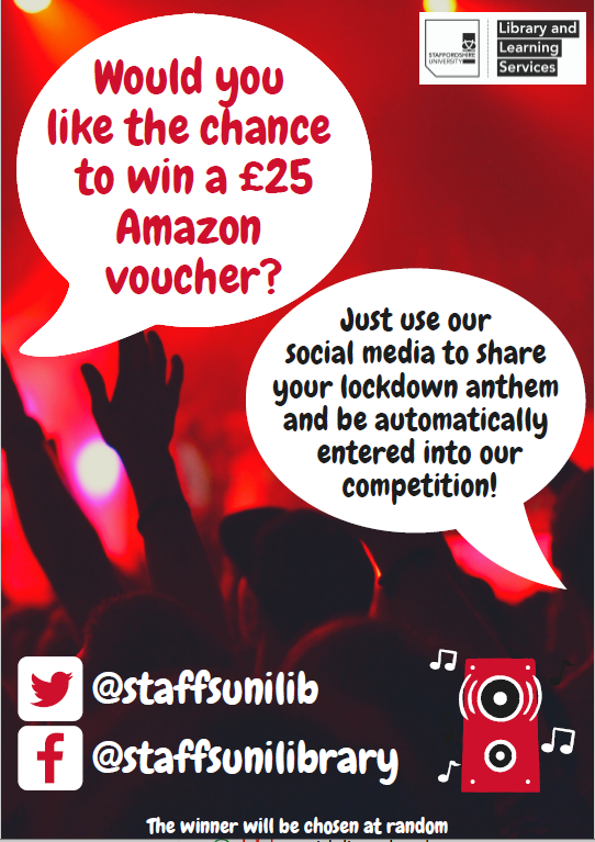 you can win a £25 Amazon voucher by sharing your lockdown anthem to our social media accounts