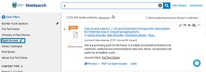 OneSearch Open Access
