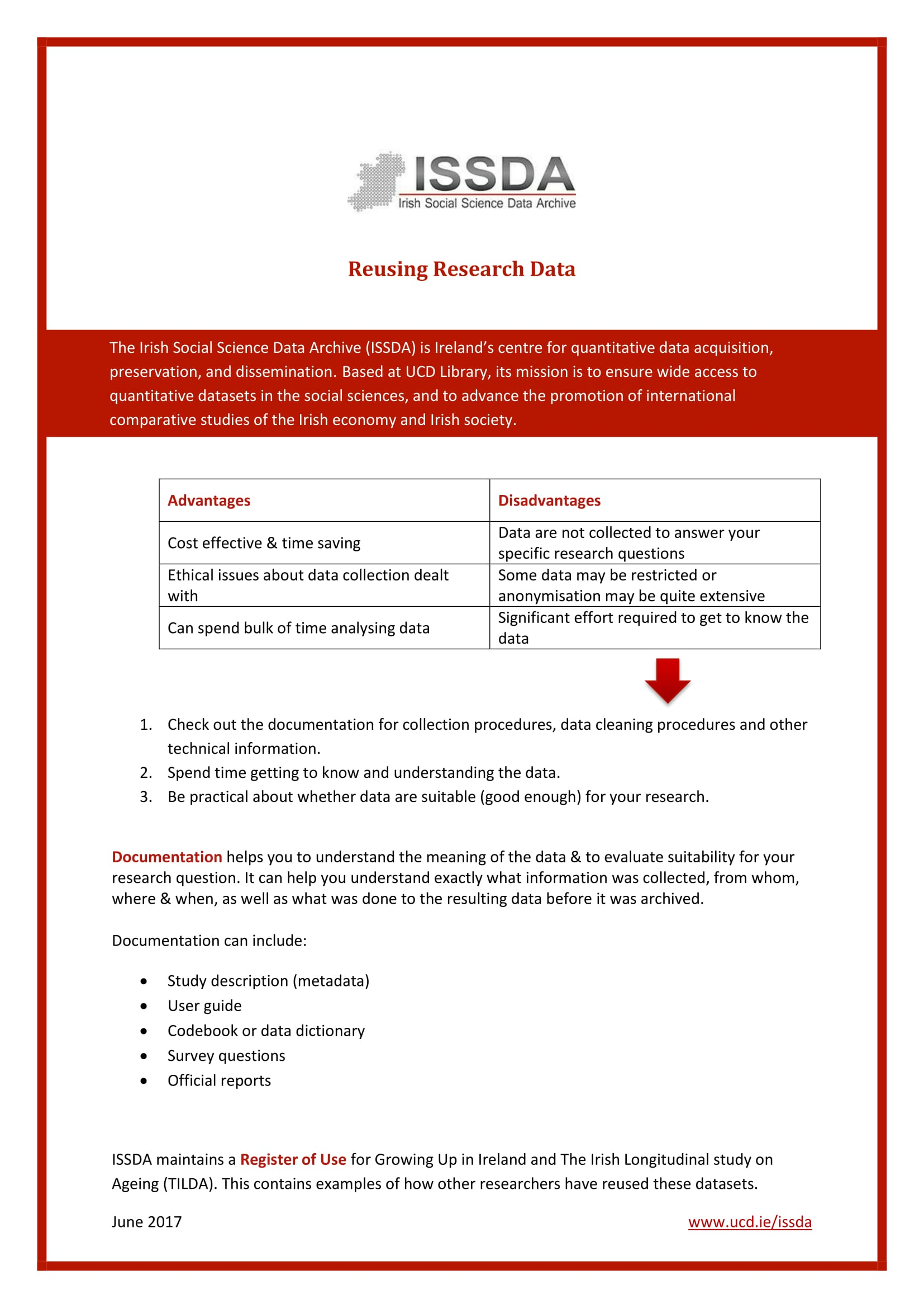 Image of Finding & Reusing Research Data flyer