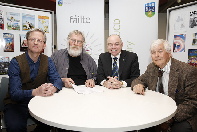 View photos of the official handover of archives to UCD Library