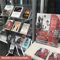 Our Spotlight book display in the James Joyce Library.