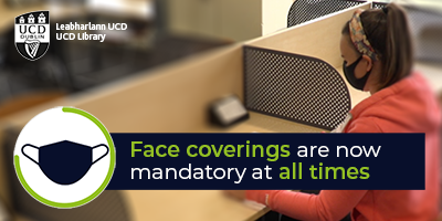 UCD Library Face coverings