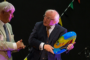 President Higgins with Brendan Flynn