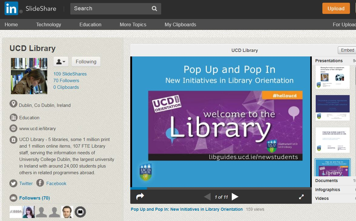 UCD library slideshare