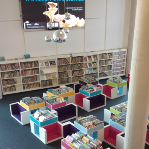 Children's library at The Hive