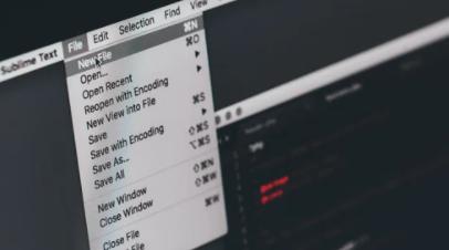 Drop down File menu on a browser