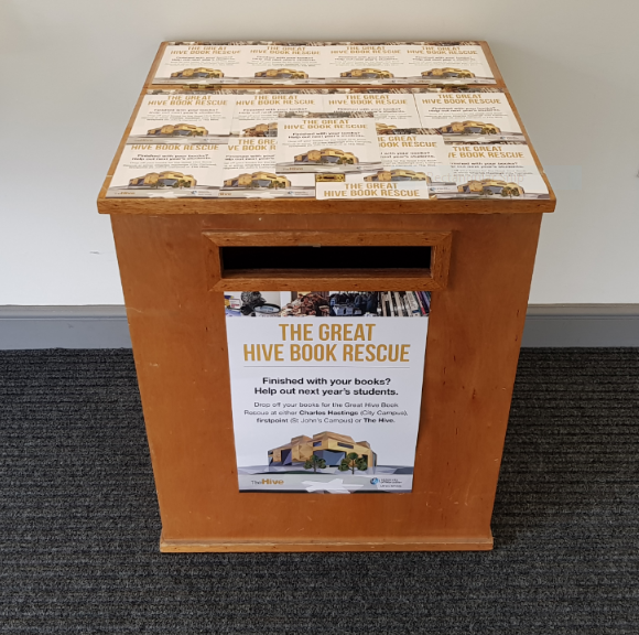 Book Rescue collection box in firstpoint