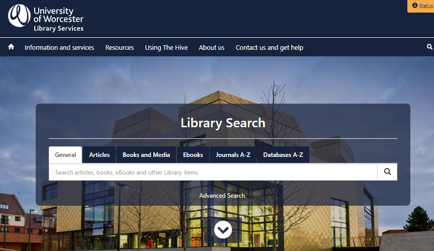 The Library Services homepage