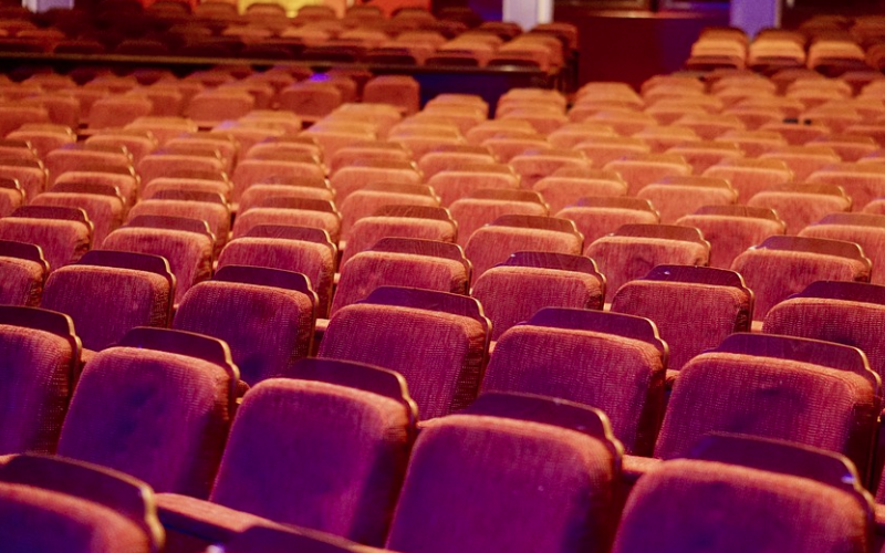 Rows of seats in a theatre