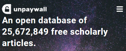 unpaywall: An open database of 25,672,849 free scholarly articles.