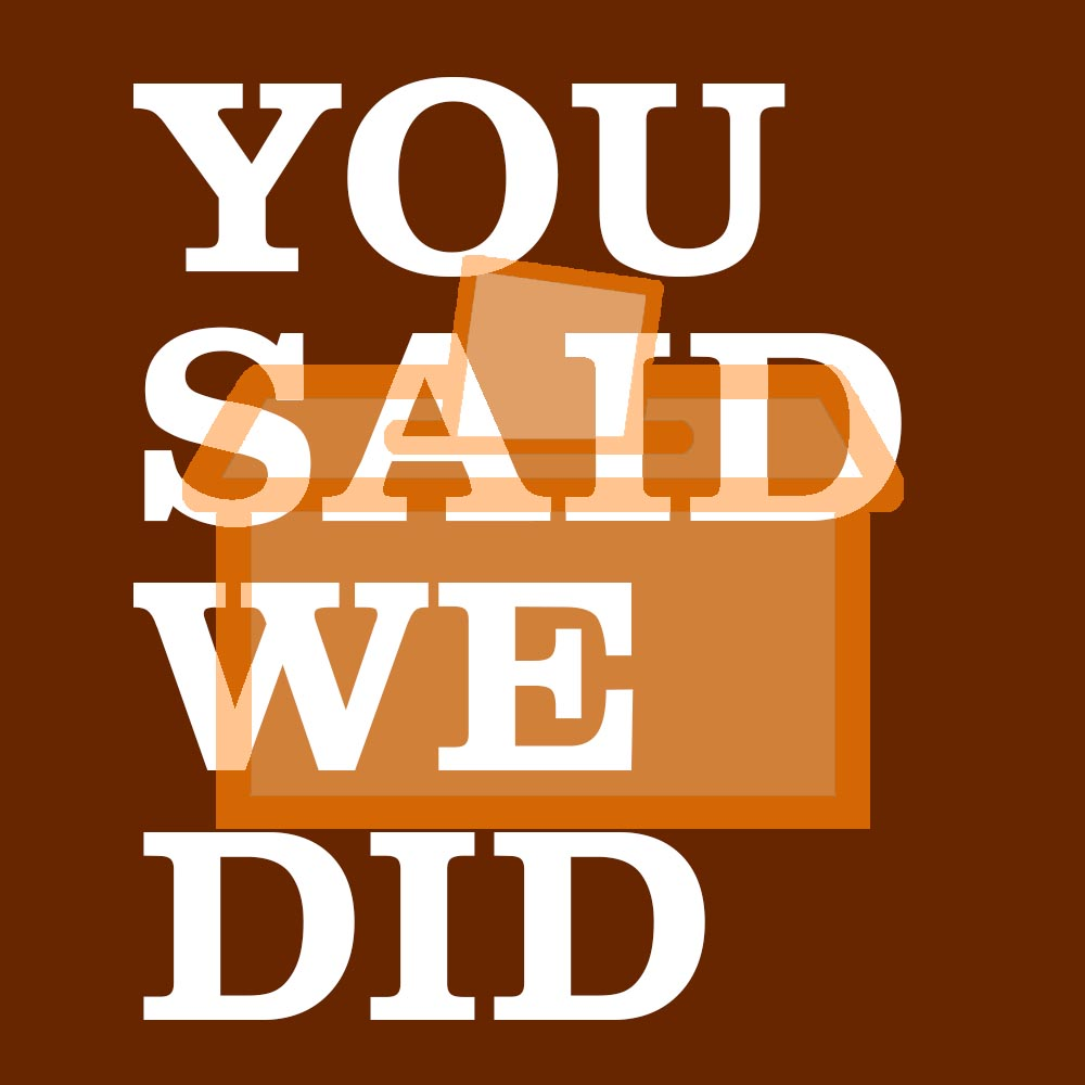 You said we did logo