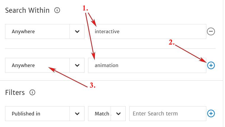 ACM, advanced search