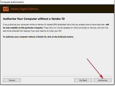 Authorize your computer without a Vendor ID
