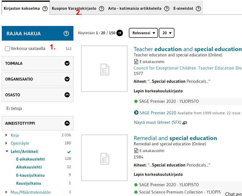 Hakutulos: Teacher education and special education -lehti