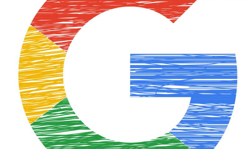 Letter G in Google colours