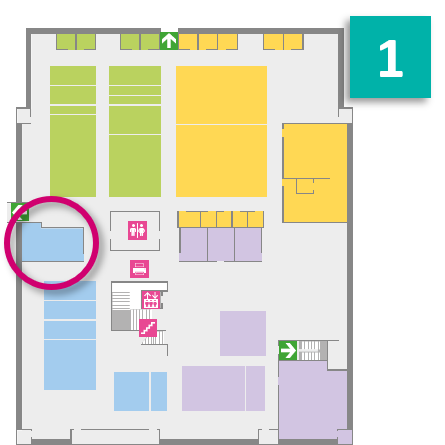 Morrell - 1st floor - IT Study Area 122 (terry) - Accessible - Afternoon