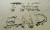 'The end' in sand