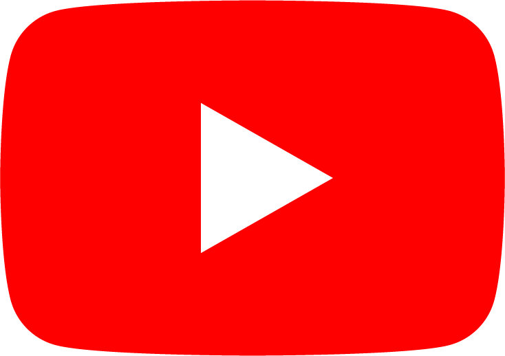 YouTube logo - red play button