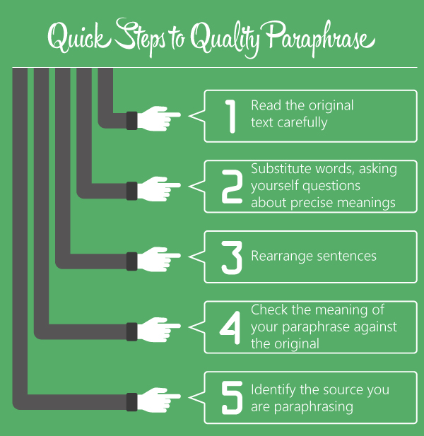 Quick Steps to Quality Paraphrase