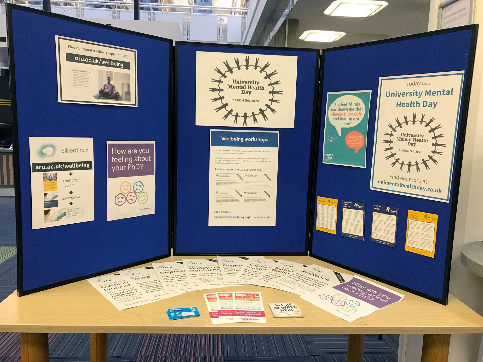Chelmsford University Mental Health Day